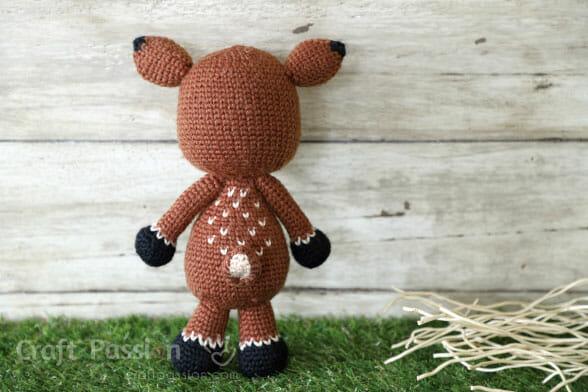 crochet stuffed deer pattern