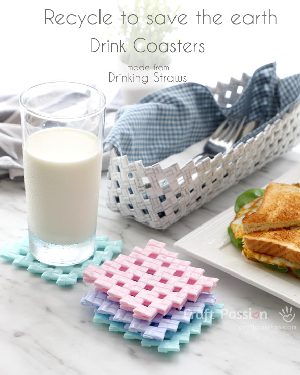 from drinking straw to drink coasters