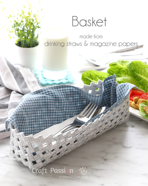 drinking straw basket