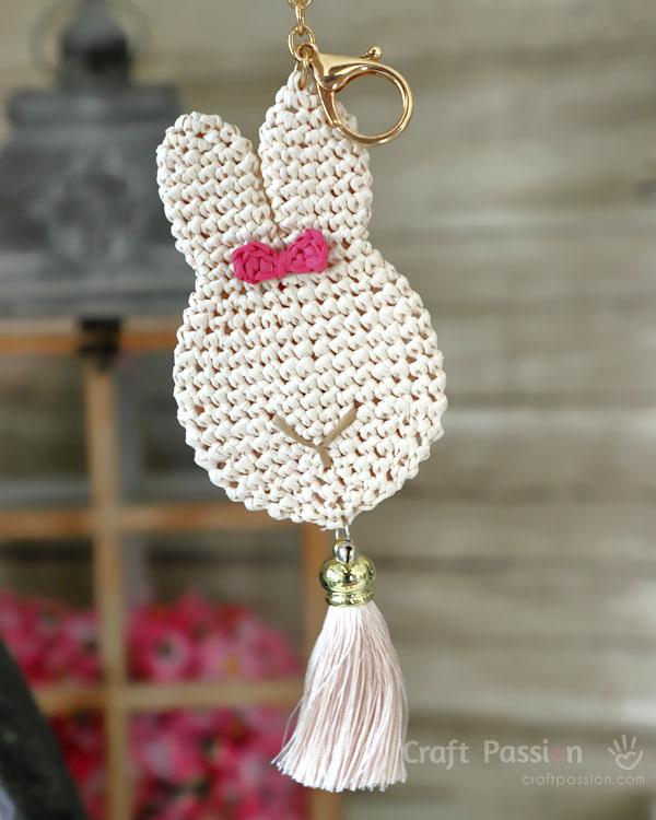 bunny bag pendant