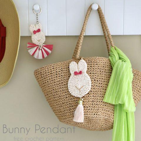 Crochet Bunny Pendant