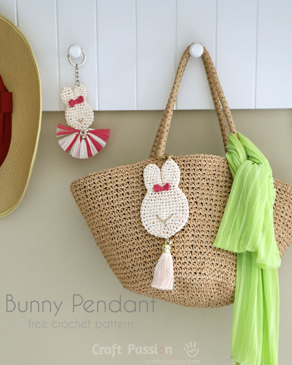 Bunny keychain, a small little crochet bunny for your bag, charm idea |  Рукоделие, Амигуруми, Вязание | 750x600