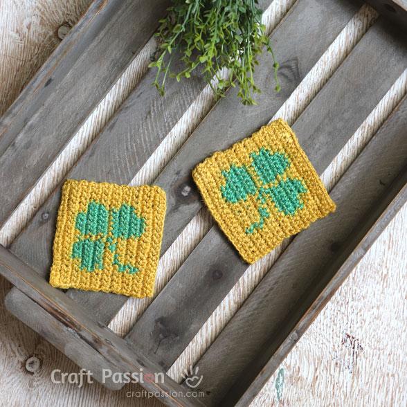 st patrick shamrock crochet
