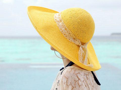Crochet Sunhat Size Ladies MediumLarge Tie Dye Sunhat; Summer Hat; Tropical Sun