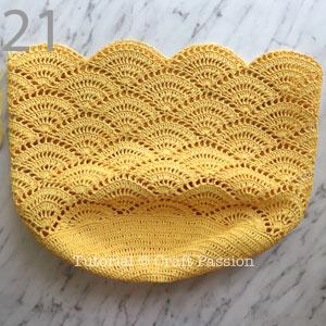 yellow beach tote crochet pattern