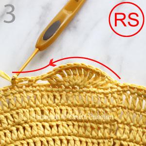 giant shell stitch beach tote crochet pattern