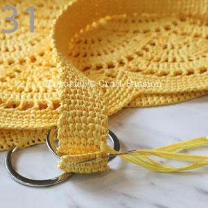 sew straps to beach tote