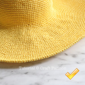 crochet beach hat