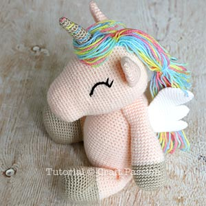 unicorn with colorful mane
