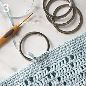 blue diamond stitch beach tote