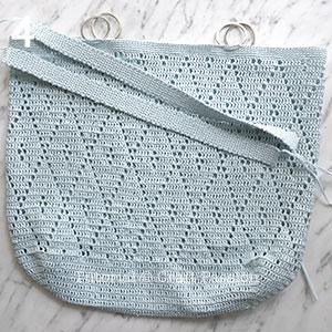 oversized diamond stitch raffia tote crochet pattern