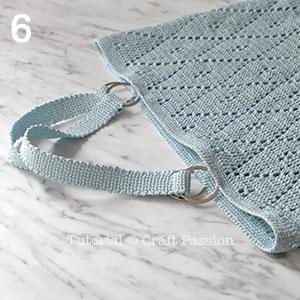 crochet diamond stitch tote