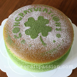 matcha japanese cheesecake