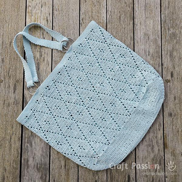diamond stitch tote
