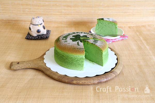 green tea japanese cheesecake