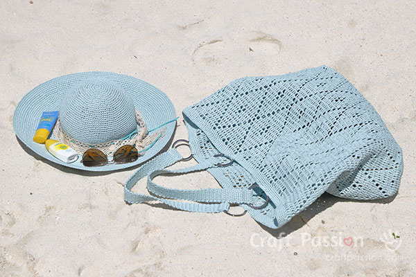 beach hat bag crochet pattern