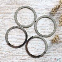 Flat Circle Ring ( O Ring) - 4 pcs