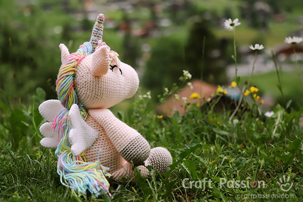 winged unicorn amigurumi