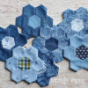 Quick Machine Sew Hexagon Flower Quilt Block