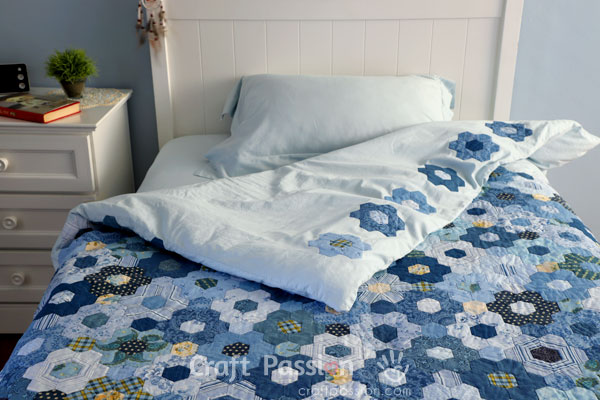 hexagon quilt cover
