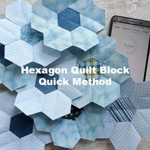 quick hexagon quilt block