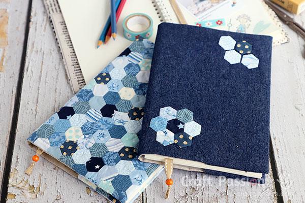 jean fabric book cover