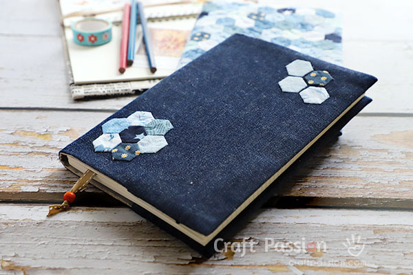 sew fabric book cover sleeve