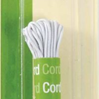 Dritz 9340W Beading Cord Elastic, White, 1/16-Inch by 5-Yard