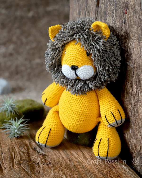 LucyRavenscar - Crochet Creatures: Boris The Tiny Lion - Free ... | 750x600