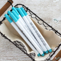 Water Soluble Fabric Marker - Blue