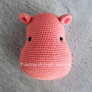hippo head amigurumi crochet pattern