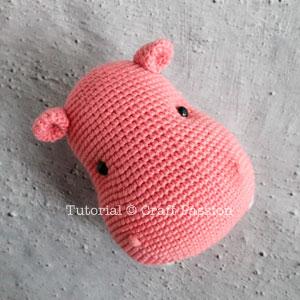 Holly the Hippo: Free Amigurumi Hippo Crochet Pattern | | 300x300