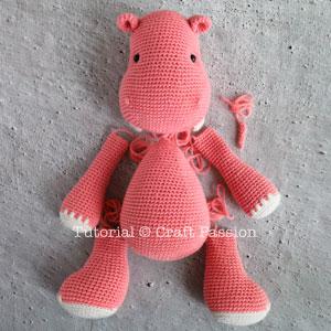 hippo amigurumi crochet pattern