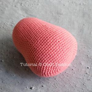 crochet hippo head