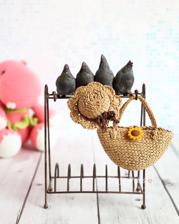 mini sunhat tote crochet pattern