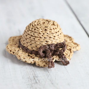 mini doll sunhat crochet pattern