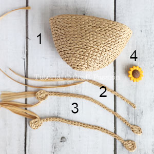 crochet mini straw tote