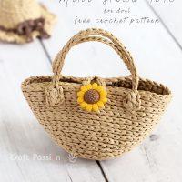 Mini Straw Tote Crochet Pattern