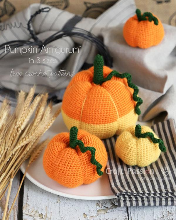 trio pumpkin amigurumi