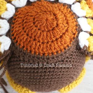 crochet turkey tail