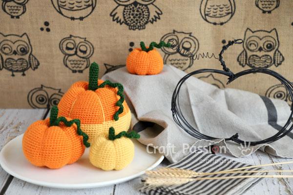 pumpkin amigurumi crochet pattern