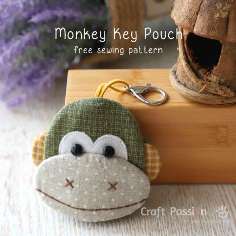 Monkey Key Pouch Sewing Pattern