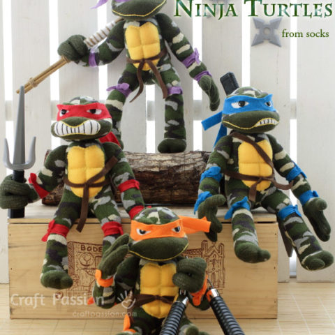 Sock Ninja Turtle Toy Sewing Pattern