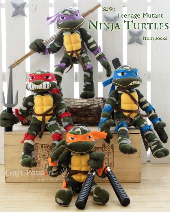 Sock Ninja Turtle