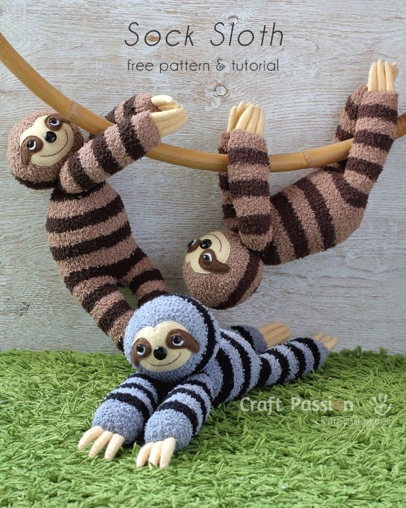 Pattern: Zippy the Baby Sloth – Storyland Amis | 735x588