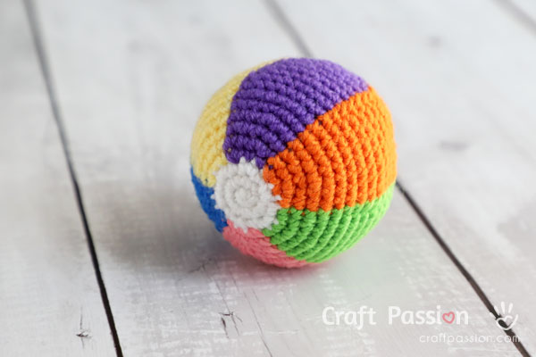 Rainbow Beach Ball Amigurumi Crochet Pattern