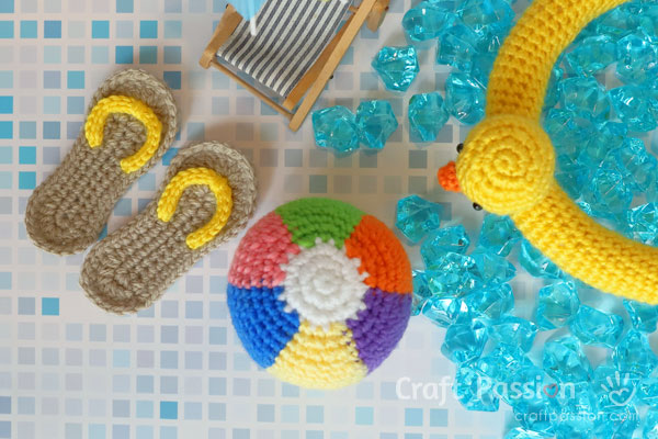beach ball amigurumi crochet pattern
