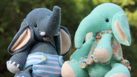 Cuddle Me Elephant crochet pattern - Amigurumi Today | 270x480