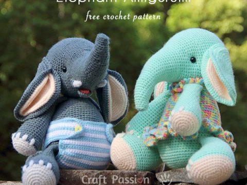Adorable Crochet Elephant Amigurumi Free Patterns | Crochet ... | 360x480
