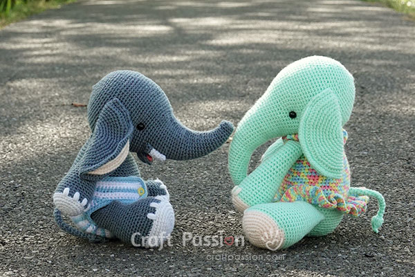 crochet elephant doll